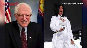 News video: Bernie Sanders Says Cardi B 'Is Right' on This Issue