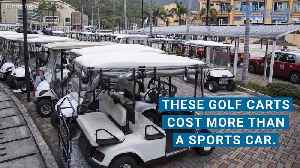 News video: For These Drivers, a Golf Cart Costs More Than a Tesla or a Porsche