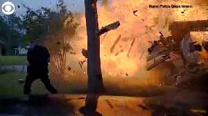 News video: Caught On Video: House Explodes In Texas