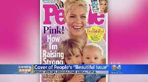 News video: TRENDING: Pop Singer Pink And Her Children Grace Cover Of People's Beautiful Issue