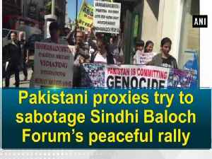 News video: Pakistani proxies try to sabotage Sindhi Baloch Forum's peaceful rally