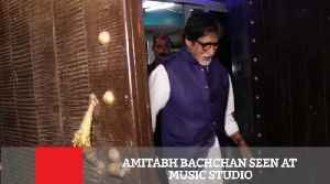 News video: Amitabh Bachchan Seen At Music Studio