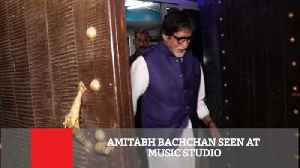News video: Aadesh shrivastav ke studio me dikhe Big B