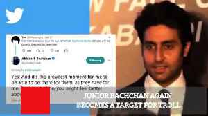 News video: Junior Bachchan Again Becomes A Target For Troll
