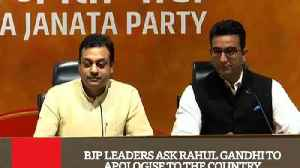 News video: BJP Leaders Ask Rahul Gandhi To Apologise To The Country