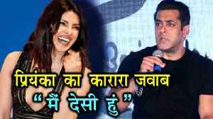 News video: Bharat Priyanka Chopra Hits Back At Salman Khan For Poking Fun At Her
