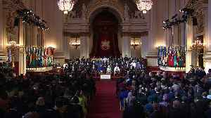 Charles and Theresa May speak at CHOGM opening ceremony