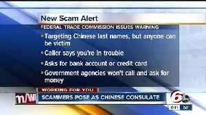 News video: Federal Trade Commission warns of new scam from 'Chinese Consulate'
