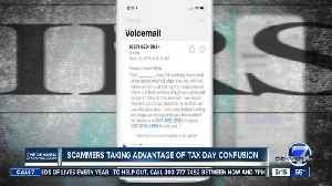 News video: Scammers taking advantage of Tax Day confusion