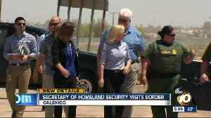 News video: Homeland Security Secretary Kirstjen Nielsen visits border fence project in Calexico