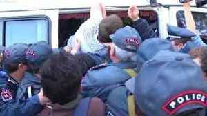 News video: Armenian Police Bundle Protester Into Van as Anti-Government Protests Continue