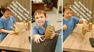 News video: Three year old creates penis for potato because 'he's a man'