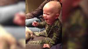 "News video: ""Cute Toddler Watches Superman For The First Time"""