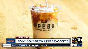 News video: Get two coffees for the price of one at Press
