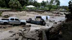 News video: Collapsed buildings and sunken homes: Floods devastate Hawaii's Kauai Island