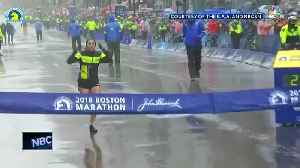 News video: Local runner competes in the Boston Marathon