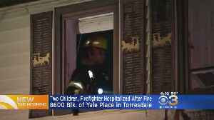 News video: 2 Children, Firefighter Hospitalized After Fire In Torresdale