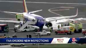 News video: FAA orders fan blade inspections after jet engine explosion