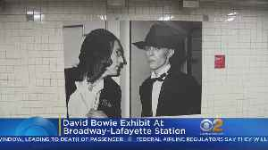 News video: David Bowie Installation Opens In NYC Subway
