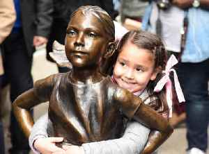 News video: New York City's 'Fearless Girl' Statue to Move in Front of Stock Exchange
