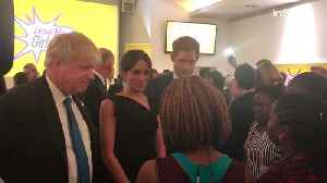 News video: Right Now: Prince Harry and Meghan Markle Join Boris Johnson at Commonwealth Meeting