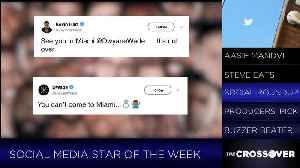 News video: Dwyane Wade Wins Crossover TV's Social Media Star Of The Week