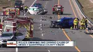 News video: Police say drinking and driving caused a deadly Washtenaw County crash