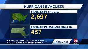 News video: Puerto Rican hurricane evacuees plead for more housing money