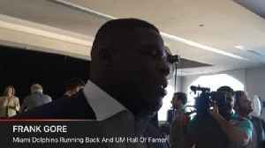 News video: Frank Gore on his induction into the UM Sports Hall of Fame