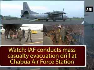 News video: Watch: IAF conducts mass casualty evacuation drill at Chabua Air Force Station