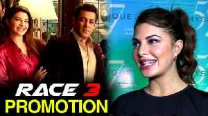News video: Jacqueline Fernandez's One Word For Salman Khan Promotes Race 3