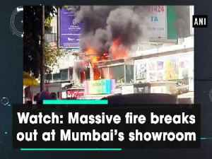 News video: Watch: Massive fire breaks out at Mumbai's showroom