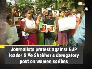 News video: Journalists protest against BJP leader S Ve Shekher's derogatory post on women scribes
