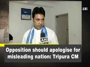 News video: Opposition should apologise for misleading the nation: Tripura CM