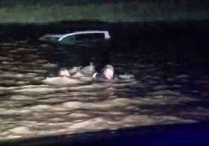 News video: Passing Motorist Rescues Woman From Car Sinking in Montana Flood