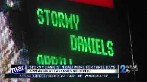 News video: Stormy Daniels to appear at Baltimore Nightclub