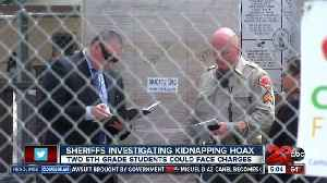 News video: Fifth graders could face charges after kidnapping hoax