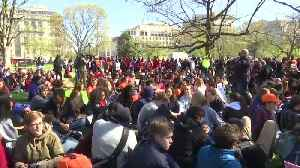 News video: Students sit in silence outside White House to protest gun violence