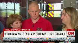 News video: Firefighter Who Tried To Save Southwest Passenger Says He Was Inspired By God