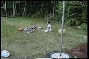 News video: Preteen Girl Totally Wipes Out On Homemade Dirt Ramp