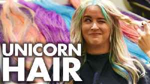 News video: Lily's Pastel Unicorn Hair for COACHELLA! (Beauty Trippin)