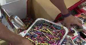 News video: Insurance company employees recycle crayons for kids in need