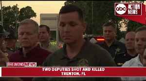 News video: Gilchrist County Sheriff's Office provides an update after two deputies were shot and killed Thursday afternoon