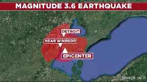 News video: 3.6 magnitude earthquake rattles metro Detroit