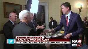 News video: Comey notes released on conversations with Trump