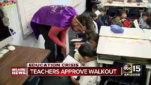 News video: Arizona teachers vote to approve walk out
