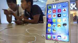 News video: Apple Shares Fall, Morgan Stanley Cites Less iPhone Demand