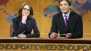 News video: Jimmy Fallon choked up last night while paying special tribute to Tina Fey