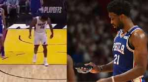News video: Justise Winslow BREAKS Joel Embiid's Face Mask! Where Was The Technical?! | 2018 NBA Playoffs