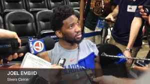 News video: Joel Embiid says the 76ers welcome physical play in their playoff series against the Heat